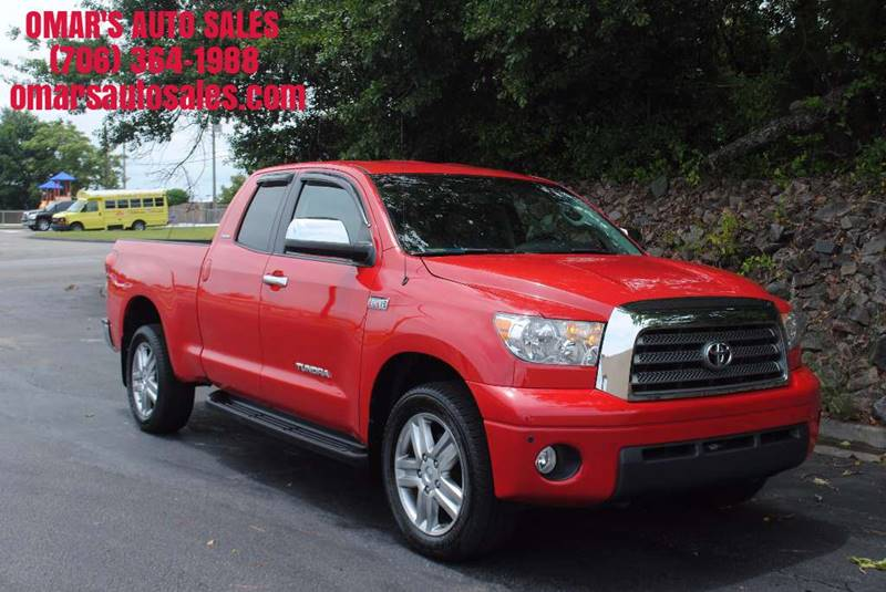 2008 TOYOTA TUNDRA LIMITED 4X4 4DR DOUBLE CAB 57L red mudguards - front pickup bed light pick
