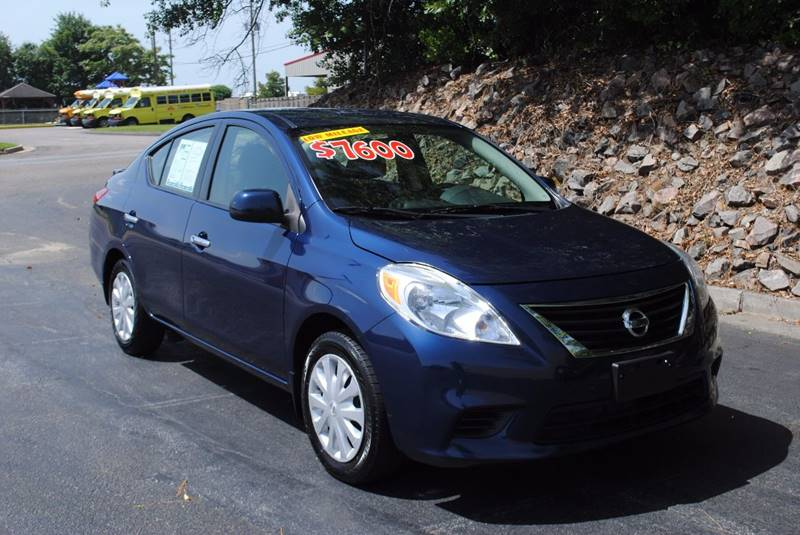 2013 NISSAN VERSA 16 SV 4DR SEDAN blue great gas saver cold ac with keyless entry and power wi
