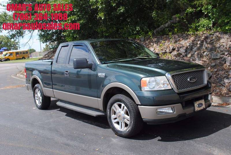 2005 FORD F-150 LARIAT 4DR SUPERCAB RWD STYLESID green front bumper color - chrome rear bumper c