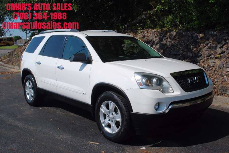 2010 GMC ACADIA SLE 4DR SUV white exhaust - dual tip body side moldings - body-color door handl