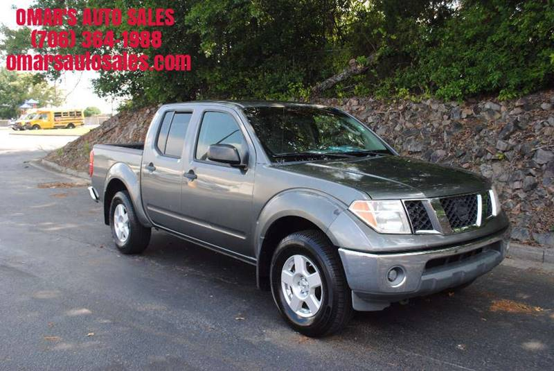 2007 NISSAN FRONTIER LE 4DR CREW CAB 4WD 50 FT SB gray 4x4 bed extender power windows  locks