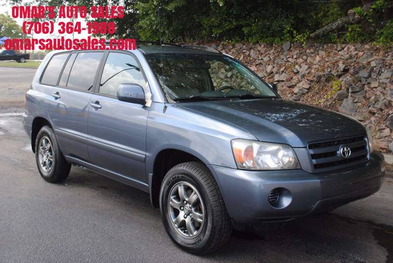 2005 TOYOTA HIGHLANDER LIMITED AWD 4DR SUV W3RD ROW blue rear spoiler front air conditioning -