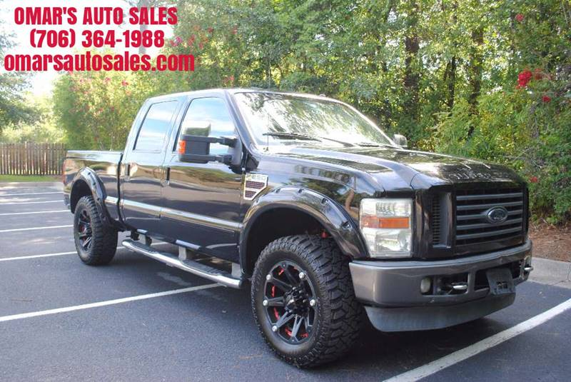 2008 FORD F-250 SUPER DUTY LARIAT 4DR CREW CAB 4WD SB black very low miles no accidents fx4