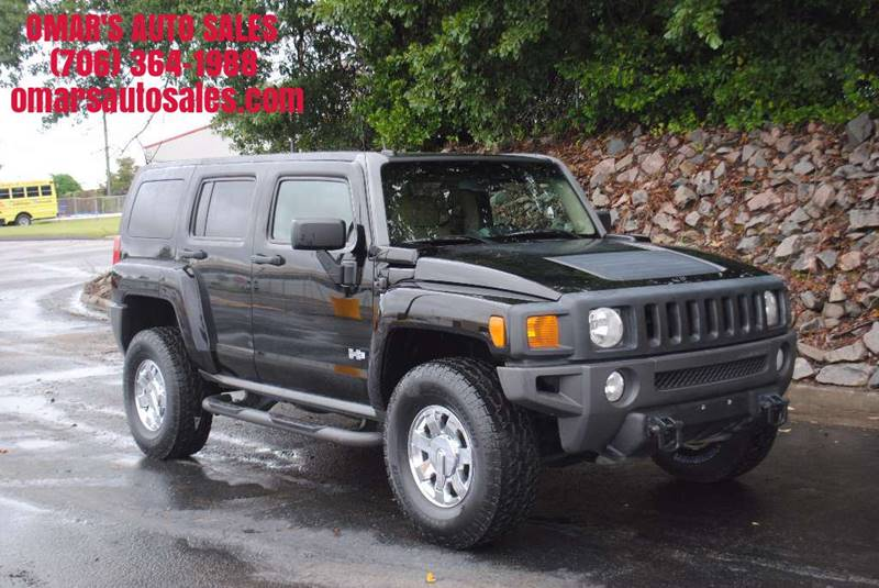 2008 HUMMER H3 BASE 4X4 4DR SUV black 4x4   no accidents heated leather seats sunroof satell