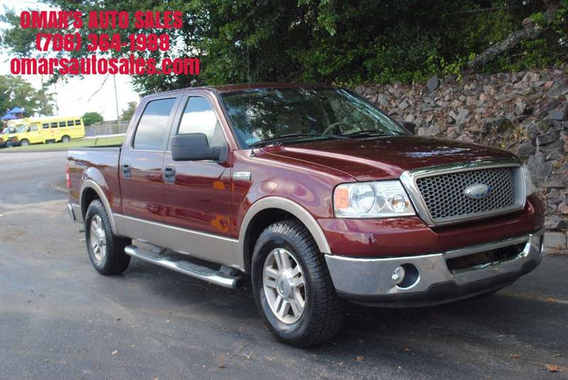 2006 FORD F-150 LARIAT 4DR SUPERCREW STYLESIDE 5 maroon pickup bed light pickup bed type - fleet