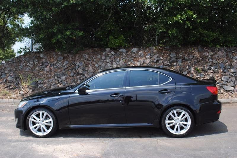 2007 LEXUS IS 250 BASE 4DR SEDAN 25L V6 6A black very clean car with heated leather seats and