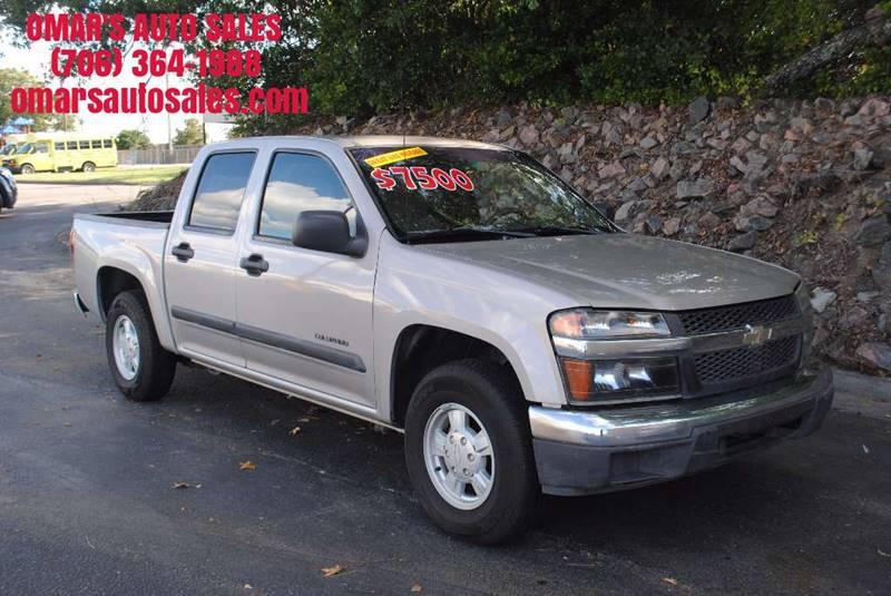 2005 CHEVROLET COLORADO Z85 LS BASE 4DR CREW CAB RWD SB champagne bed liner good tires and driv