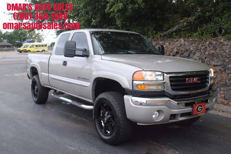 2005 GMC SIERRA 2500HD SLE 4DR EXTENDED CAB 4WD SB champagne 4x4   no accidents blue tooth po