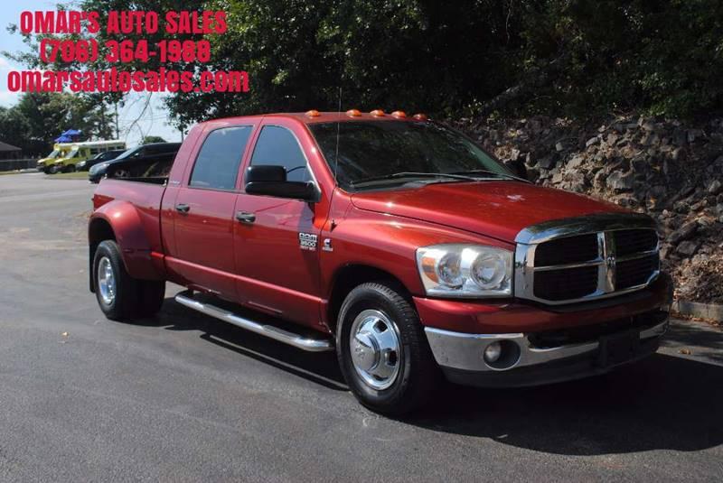 2007 DODGE RAM PICKUP 3500 SLT 4DR MEGA CAB SB maroon low miles no accidents very clean  pi