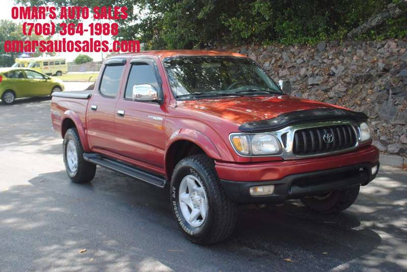 2001 TOYOTA TACOMA PRERUNNER V6 4DR DOUBLE CAB 2WD red no accidents running boards bed cover
