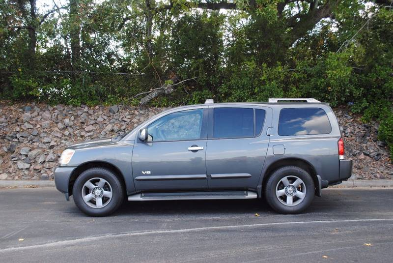 2005 NISSAN ARMADA SE 4DR SUV gray running boards skid plates front air conditioning front a