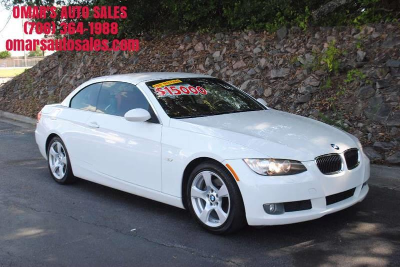 2008 BMW 3 SERIES 328I 2DR CONVERTIBLE white convertible blue tooth dual climate control satel