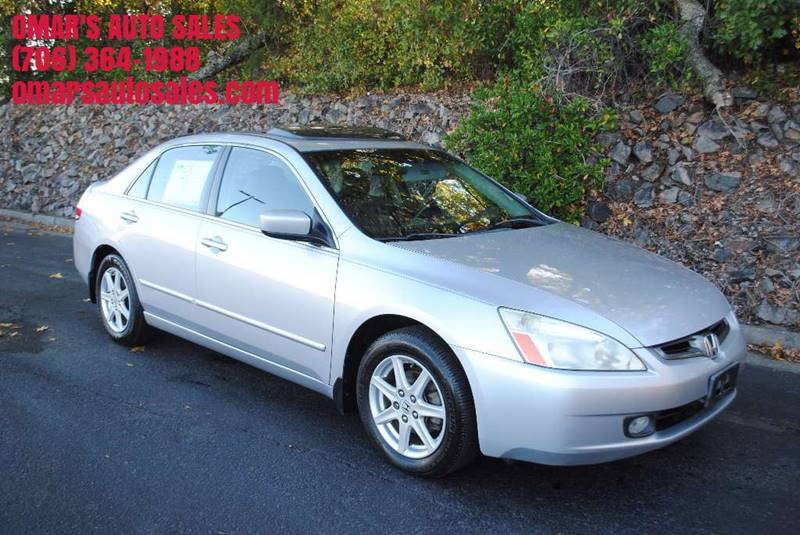 2003 HONDA ACCORD EX V 6 4DR SEDAN silver front air conditioning front air conditioning - automa