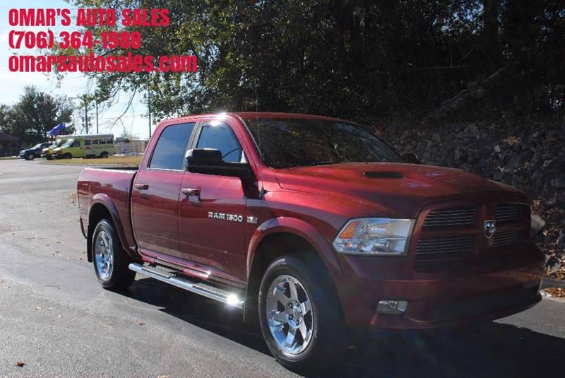 2011 RAM RAM PICKUP 1500 SLT 4X4 4DR CREW CAB 55 FT SB burgundy pickup bed light tailgate - re