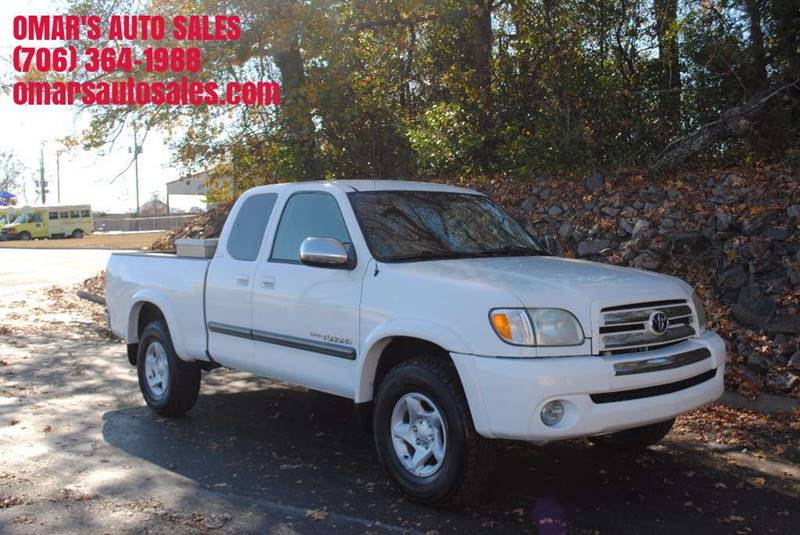 2004 TOYOTA TUNDRA SR5 4DR ACCESS CAB 4WD SB V8 white tow package sr5 package alloy wheels fron
