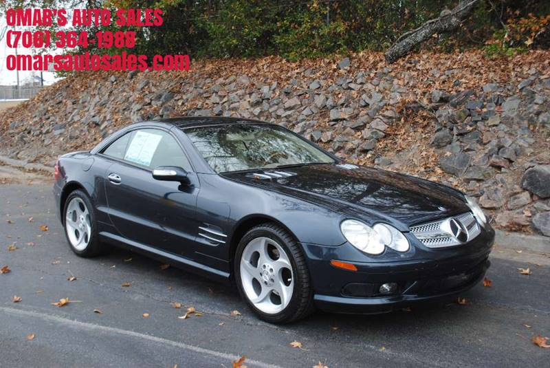 2004 MERCEDES-BENZ SL-CLASS SL 500 2DR CONVERTIBLE blue front air conditioning front air conditi