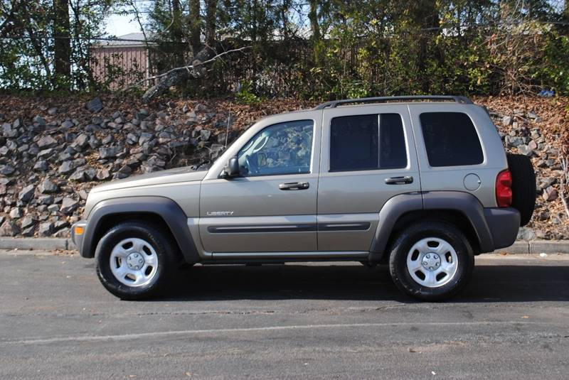 2004 JEEP LIBERTY SPORT 4DR SUV gold center console power steering axle ratio - 410 front bra