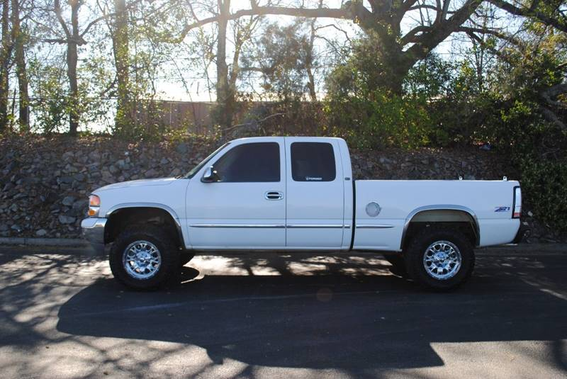 2001 GMC SIERRA 1500 SLT 4DR EXTENDED CAB 4WD SB WON gray clean 4wd truck with plenty of room c