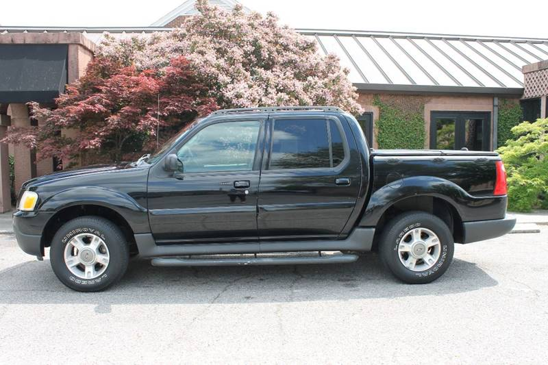 2004 FORD EXPLORER SPORT TRAC XLT 4DR CREW CAB SB RWD black front air conditioning front air con