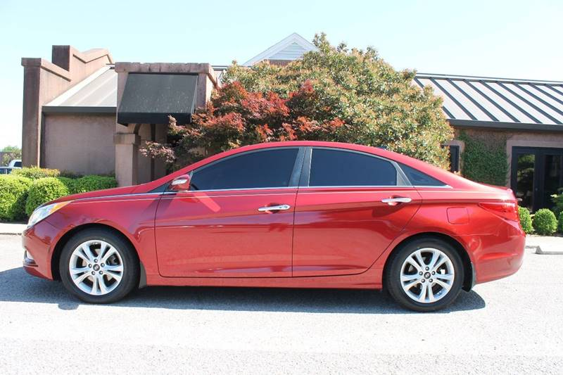 2013 HYUNDAI SONATA LIMITED 4DR SEDAN red double sunroof navigation push start low mileage ba