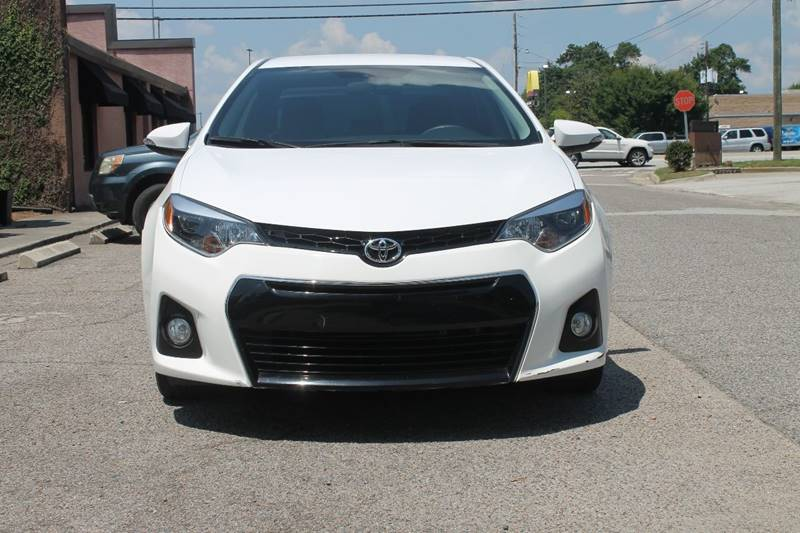 2015 TOYOTA COROLLA S PLUS 4DR SEDAN CVT white back up camera hands free bluetooth connection fo