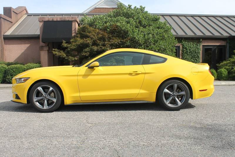 2015 FORD MUSTANG V6 2DR FASTBACK yellow push to start keyless entry back up camera  exhaust -
