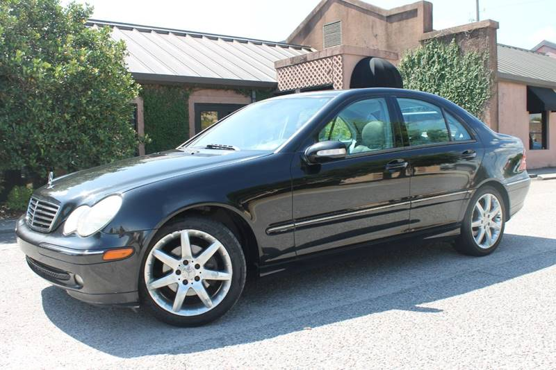 2004 MERCEDES-BENZ C-CLASS C 230 KOMPRESSOR 4DR SEDAN black front air conditioning front air con