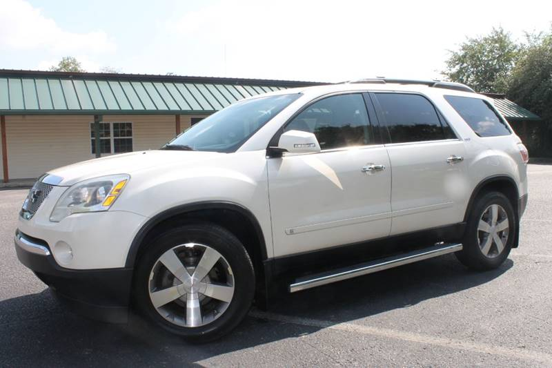 2009 GMC ACADIA SLT 1 4DR SUV white fully loaded back up camera navigation pano sun roof auto
