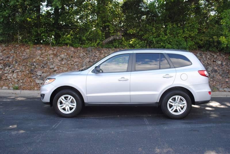 2010 HYUNDAI SANTA FE GLS 4DR SUV silver exhaust - dual tip body side moldings - black door han