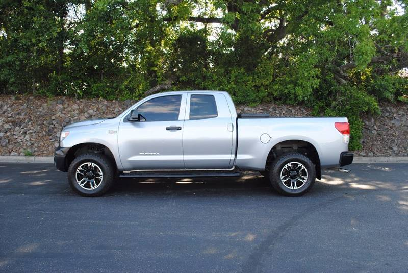 2012 TOYOTA TUNDRA GRADE 4X2 4DR DOUBLE CAB PICKUP silver tailgate - lift assist door handle col