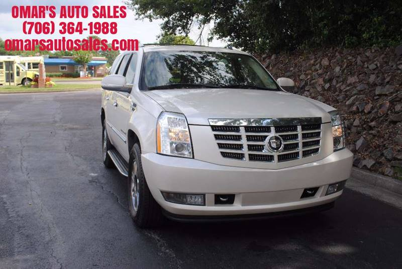 2007 CADILLAC ESCALADE BASE AWD 4DR SUV white no accidents 3 months free siriusxm satellite radi