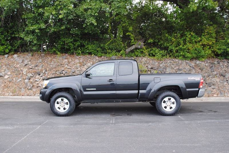 2007 TOYOTA TACOMA PRERUNNER V6 4DR ACCESS CAB 61 black pickup bed type - fleetside cargo tie d