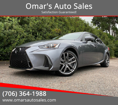 2020 Lexus IS 350 for sale at Omar's Auto Sales in Martinez GA