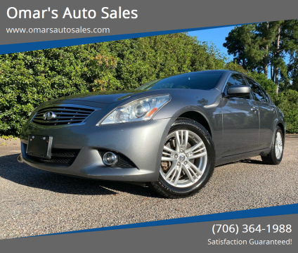 2013 Infiniti G37 Sedan for sale at Omar's Auto Sales in Martinez GA
