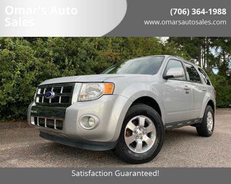 2012 Ford Escape for sale at Omar's Auto Sales in Martinez GA