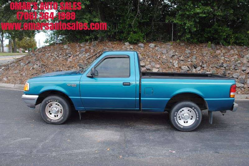 1997 FORD RANGER XLT 2DR STANDARD CAB SB green very clean truck manual transmission great on ga