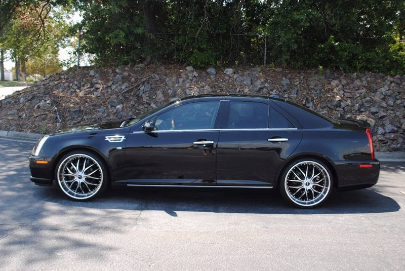 2009 CADILLAC STS V6 LUXURY PERFORMANCE 4DR SEDAN black no accidents clean car with 3 months free