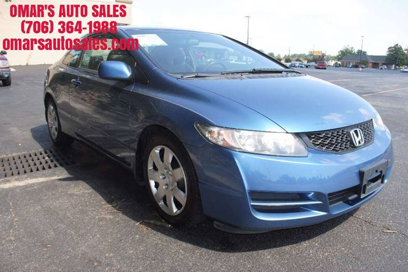 2010 HONDA CIVIC LX 2DR COUPE 5A blue great starter car like new tires power windows power loc