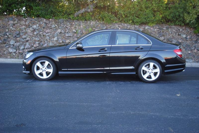 2010 MERCEDES-BENZ C-CLASS C300 SPORT 4MATIC AWD 4DR SEDAN black exhaust - dual tip exhaust tip