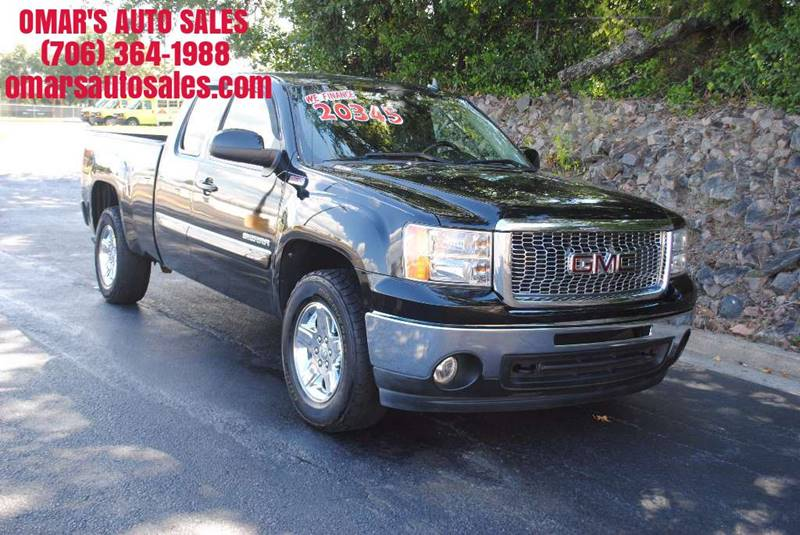 2011 GMC SIERRA 1500 SLE 4X2 4DR EXTENDED CAB 65 FT black no accidents 3 months sirius satel