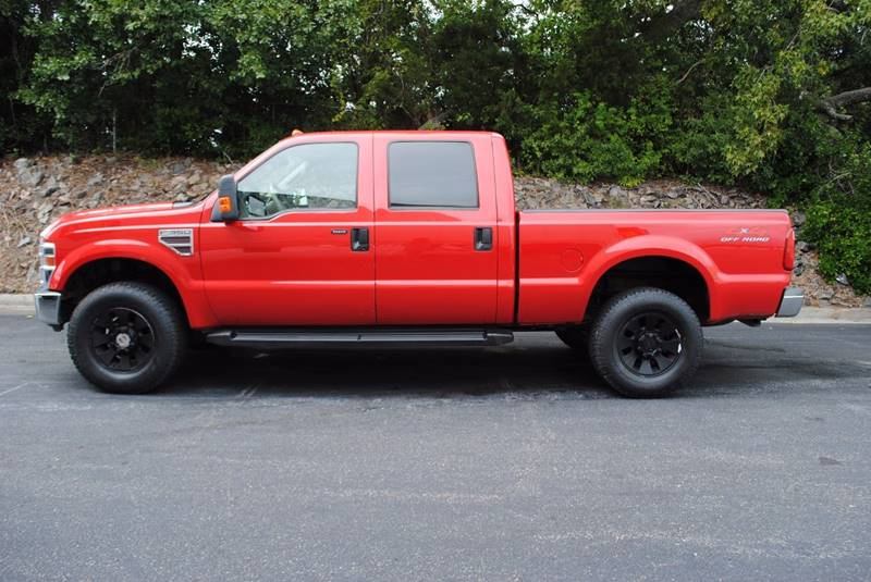 2008 FORD F-350 SUPER DUTY LARIAT 4DR CREW CAB 4WD SB red pickup bed light pickup bed type - fle
