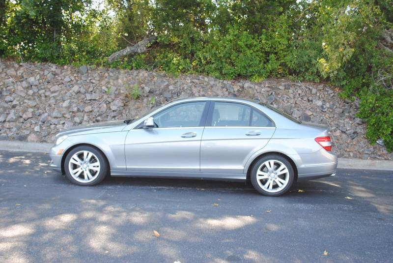 2009 MERCEDES-BENZ C-CLASS C300 LUXURY 4MATIC AWD 4DR SEDAN silver one owner no accidents 3