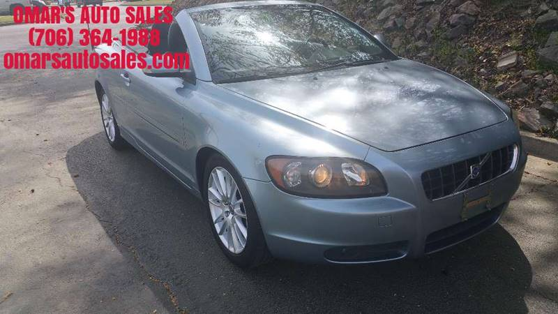 2007 VOLVO C70 T5 2DR CONVERTIBLE blue no accidents clean car with a power top leather seats
