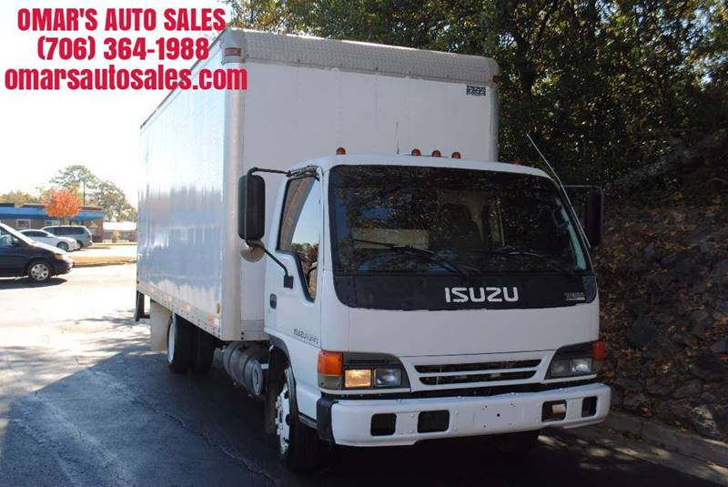1999 ISUZU NPR white great box truck clean emergency road kit included shelving in back a mus