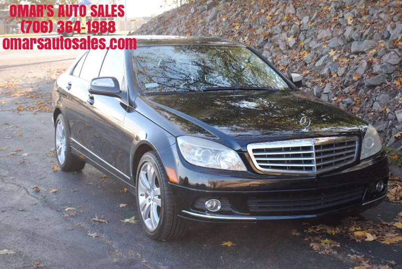 2008 MERCEDES-BENZ C-CLASS C 300 LUXURY 4DR SEDAN black no accidents 3 months free serius sate