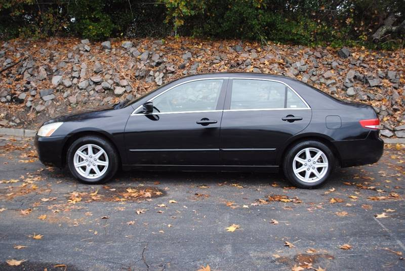 2003 HONDA ACCORD EX V-6 4DR SEDAN black no accidents clean car with leather seats dual clima