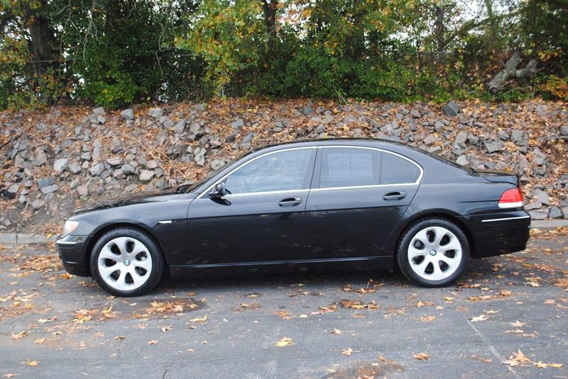 2006 BMW 7 SERIES 750I 4DR SEDAN black no accidents clean car with heated leather seats backu