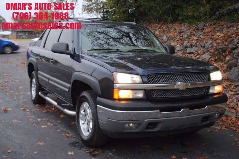 2005 CHEVROLET AVALANCHE 1500 Z71 4DR 4WD CREW CAB SB blue no accidents 3 months free sirius s