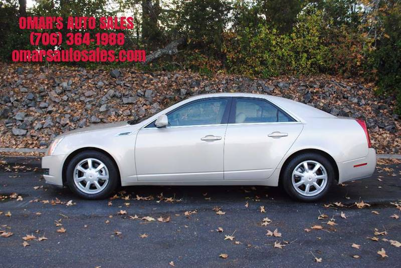 2008 CADILLAC CTS 36L V6 4DR SEDAN gold no accidents clean car with 3 months free siriusxm sate