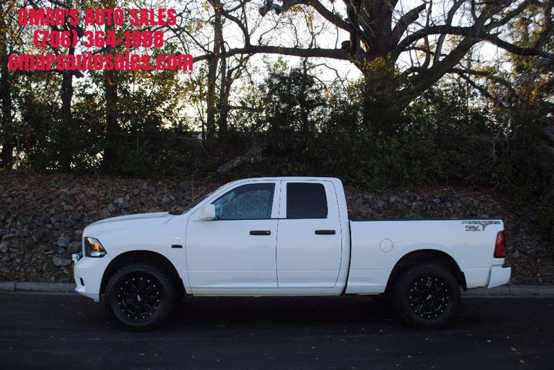 2012 RAM RAM PICKUP 1500 ST 4X4 4DR QUAD CAB 63 FT SB P white one owner 4x4 with 3 months fr